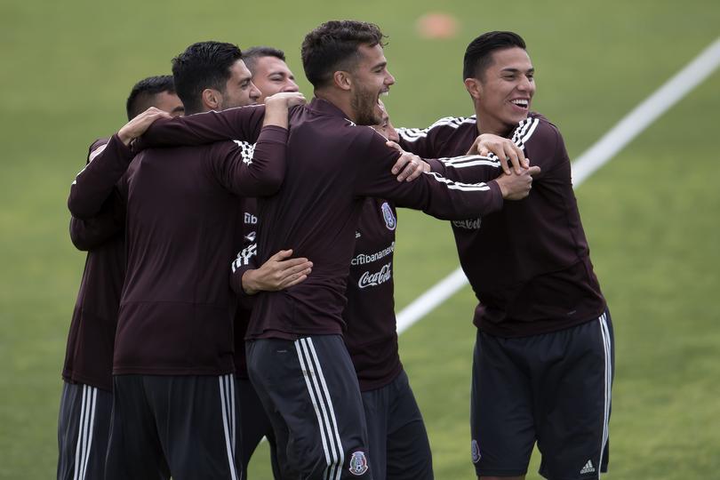 Entrenamiento de la Selección Mexicana