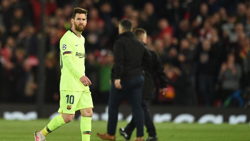Recogepelotas se burla de Messi tras la eliminación del Barcelona