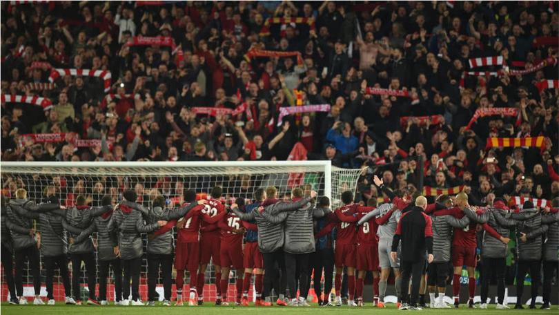 La reacción de la afición de Liverpool en Anfield tras no quedar campeones de la Premier