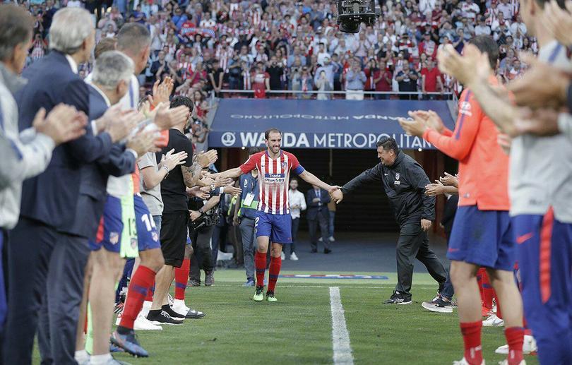 Así fue la despedida de la afición del Atleti con Diego Godín