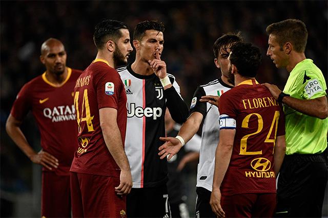 Cristiano Ronaldo se burló de Florenzi y le contestó con un gol