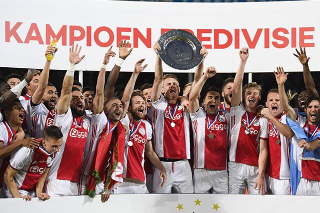 Ajax se proclamó campeón de la Eredivisie en la última jornada