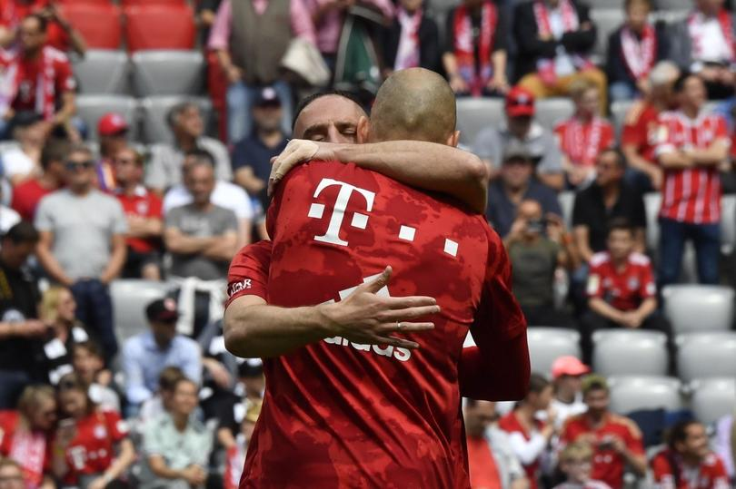 Arjen Robben y Franck Ribery