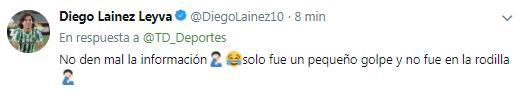 Diego publicó un tuit, pero lo borró
