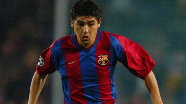 Juan Román Riquelme con Barcelona