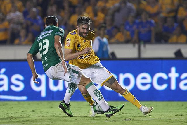 Gignac fue el jugador más destacado de la final de ida entre Tigres y León