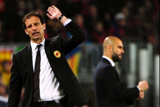 Massimiliano Allegri dio una pista de la contratación de Guardiola