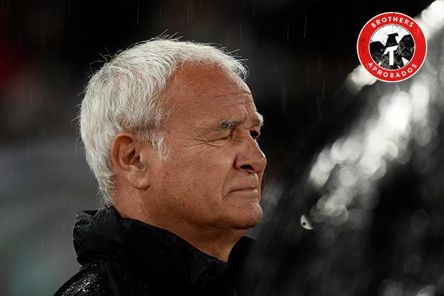 Claudio Ranieri rompió en llanto después de leer una pancarta de la afición de la Roma