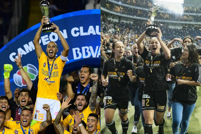 Los equipos de Tigres mandan en el futbol mexicano