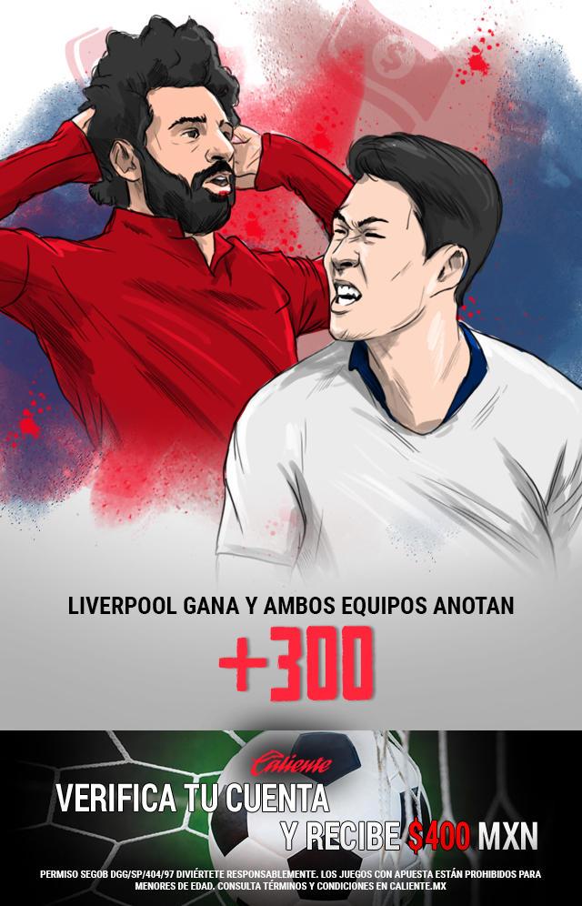 Si crees que en la final de la Champions League, Liverpool gana vs Tottenham y ambos equipos anotan, apuesta en Caliente y no pierdas la oportunidad de llevarte mucho dinero.