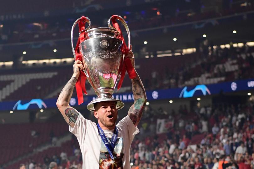 Alberto Moreno con la Champions League