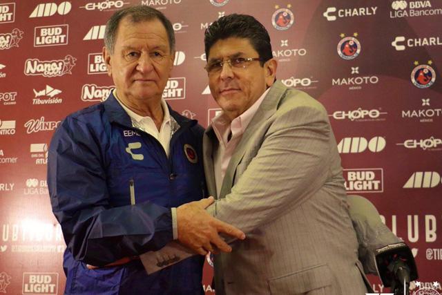 Enrique Meza fue presentado oficialmente como técnico de Veracruz