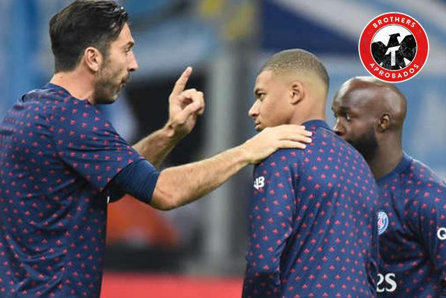 Neymar y Mbappé se despidieron de Buffon