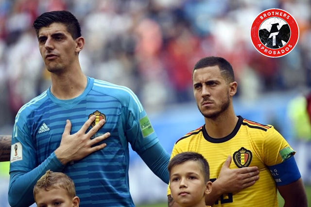 Thibaut Courtois le dio la bienvenida a Hazard
