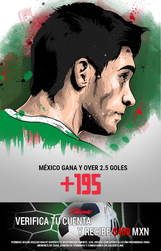 Si crees que México gana vs Ecuador y el partido es over de 2.5 goles, apuesta en Caliente y no pierdas la oportunidad de llevarte mucho dinero.