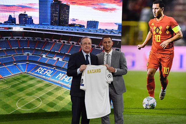 Florentino Pérez y Eden Hazard