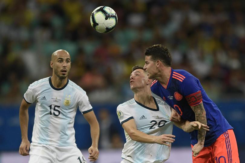 Guido Pizarro en el Argentina vs Colombia
