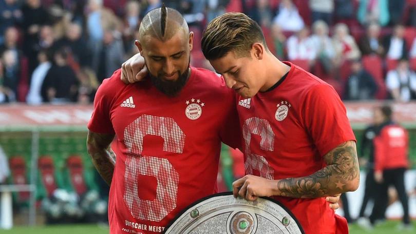 Arturo Vidal y James Rodríguez en el Bayern Munich