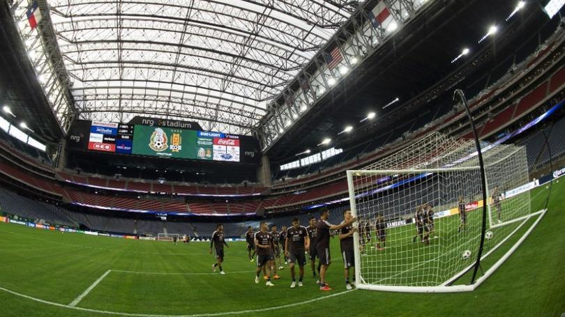 Selección mexicana en nrg Stadium.