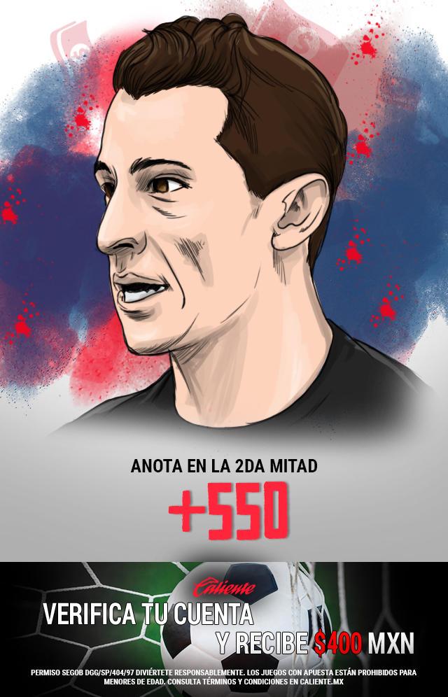Si crees que Andrés Guardado anota en la segunda mitad en el partido vs Costa Rica en la Copa de Oro, apuesta en Caliente y no pierdas la oportunidad de llevarte mucho dinero.