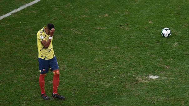 Tesillo falló el penal que significó la eliminación de Colombia de la Copa América