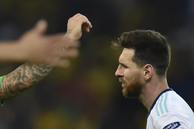 Lionel Messi tras la eliminación de Argentina