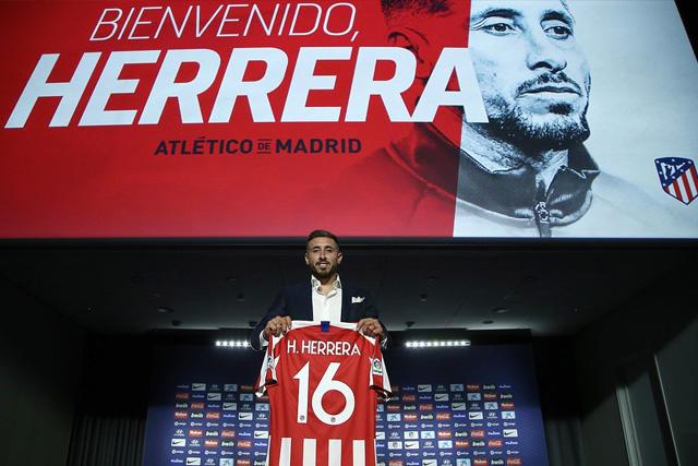 Héctor Herrera ya fue presentado con el Atlético de Madrid