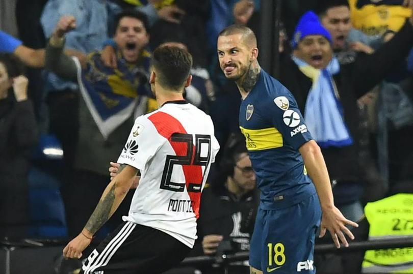 La famosa sacada de lengua de Benedetto en la Final de la Libertadores