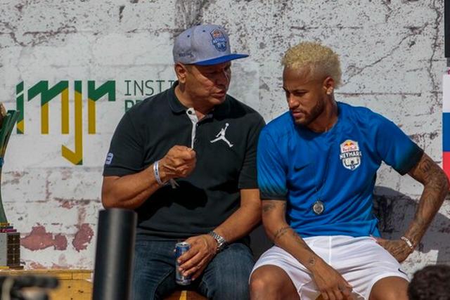 Neymar Jr y su papá