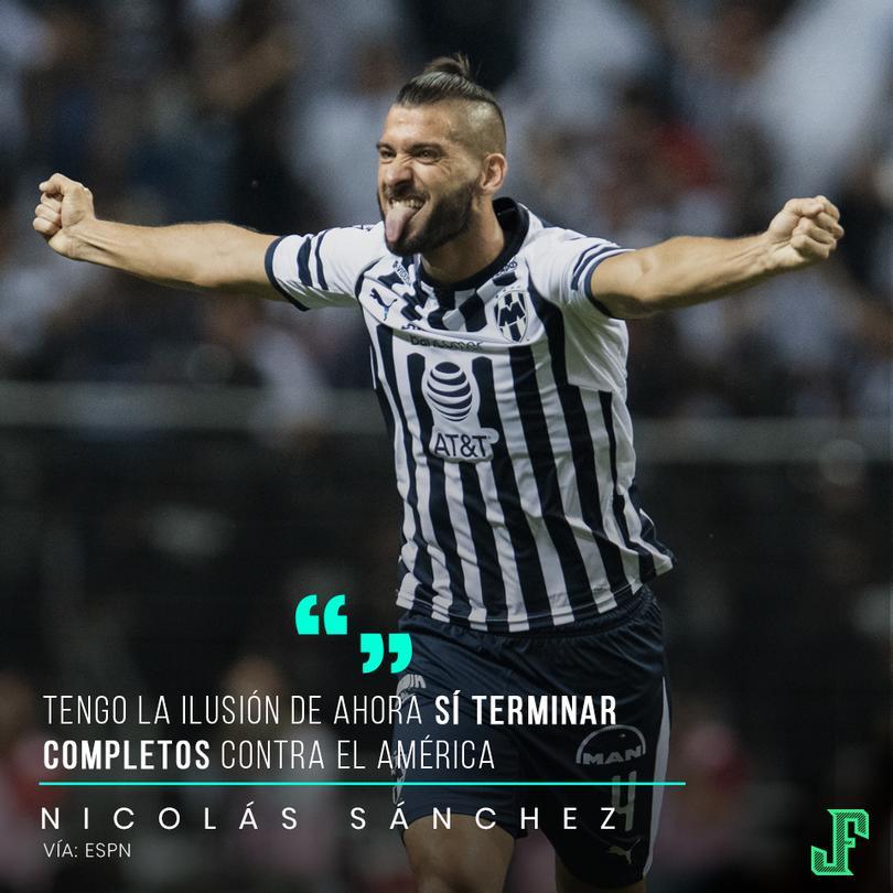 Nicolás Sánchez habla sobre el partido contra América.