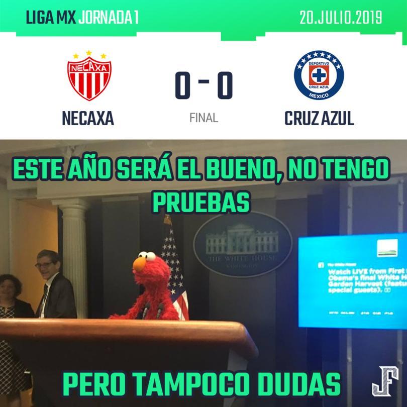 Cruz Azul empató a cero con el Necaxa