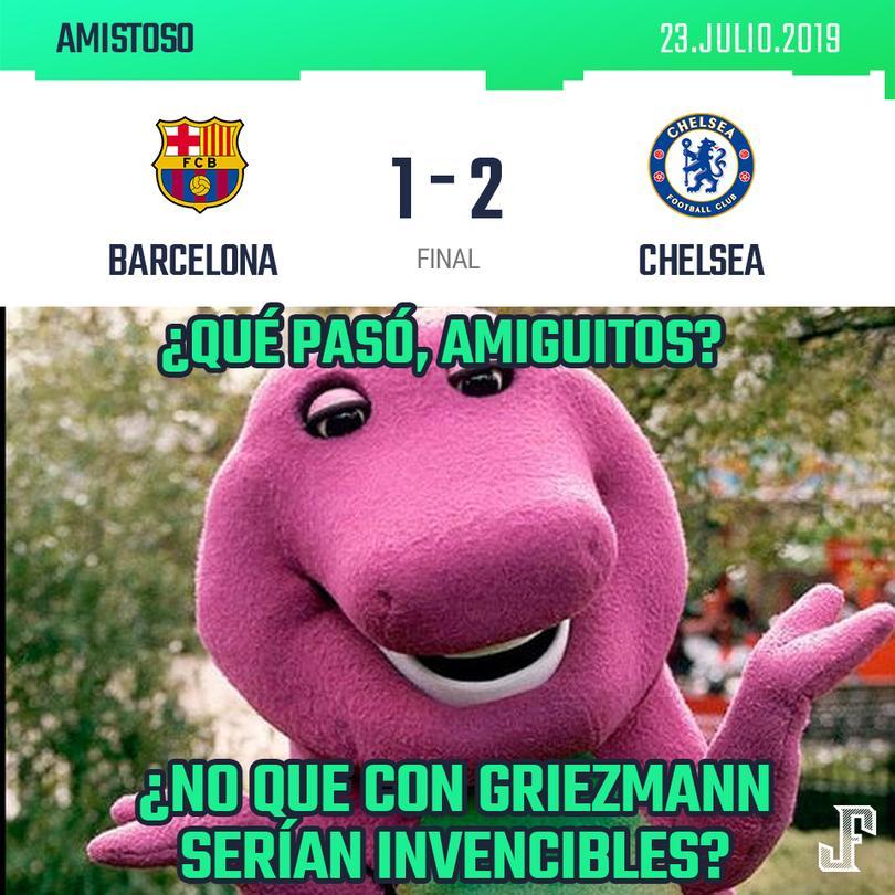 Barcelona perdió 1-2 contra el Chelsea