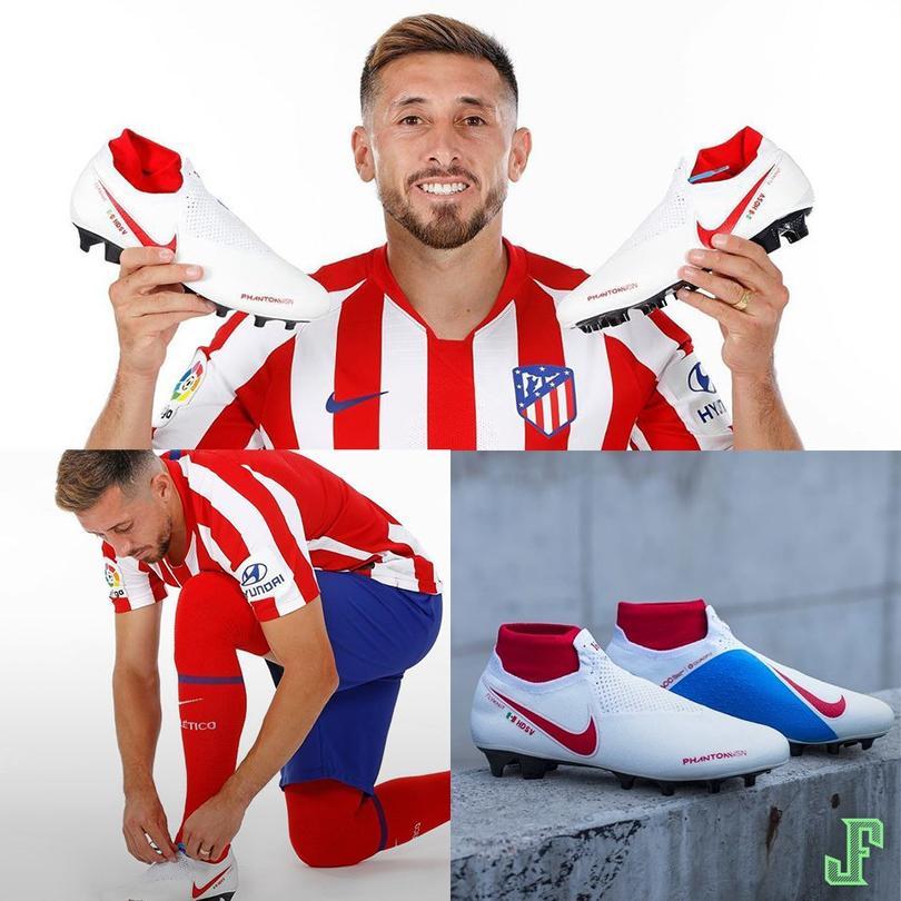 Héctor Herrera con sus zapatos personalizados