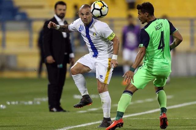 Wesley Sneijder con el Al-Gharafa
