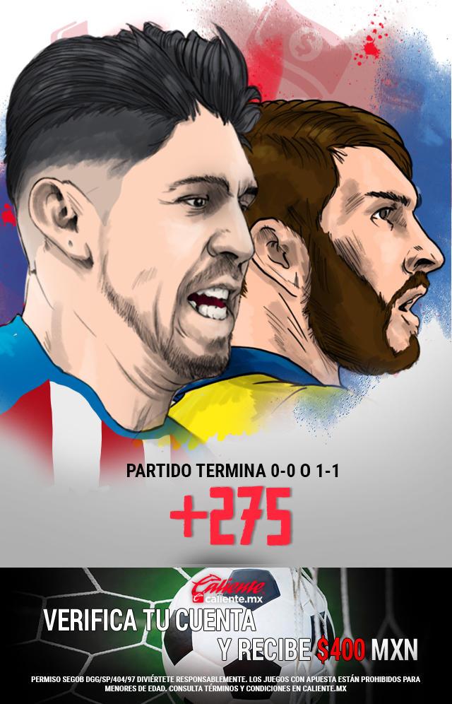 Si crees que el partido Chivas vs Tigres termina 0-0 o 1-1, apuesta en Caliente y ¡llévate mucho dinero!!