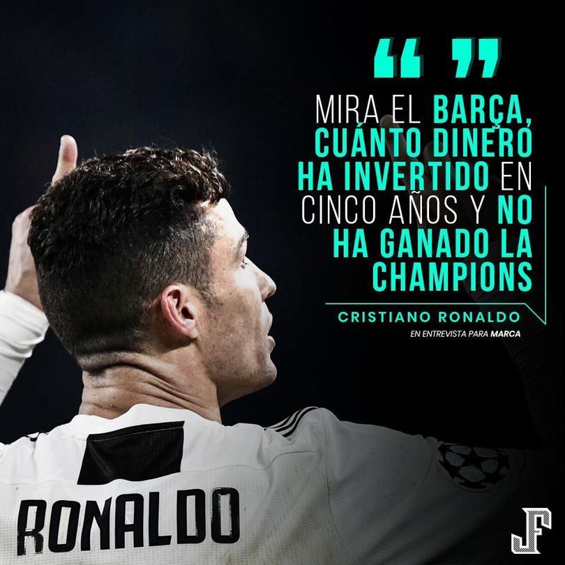 Ronaldo se fue con todo contra el Barca.