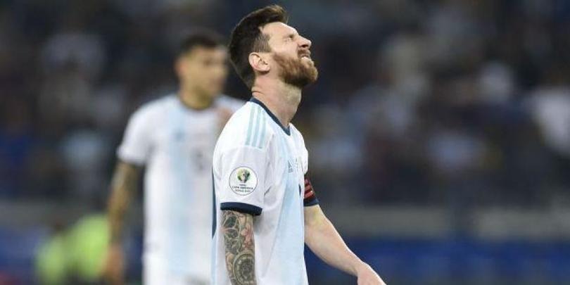 Messi sufrió en esta Copa América