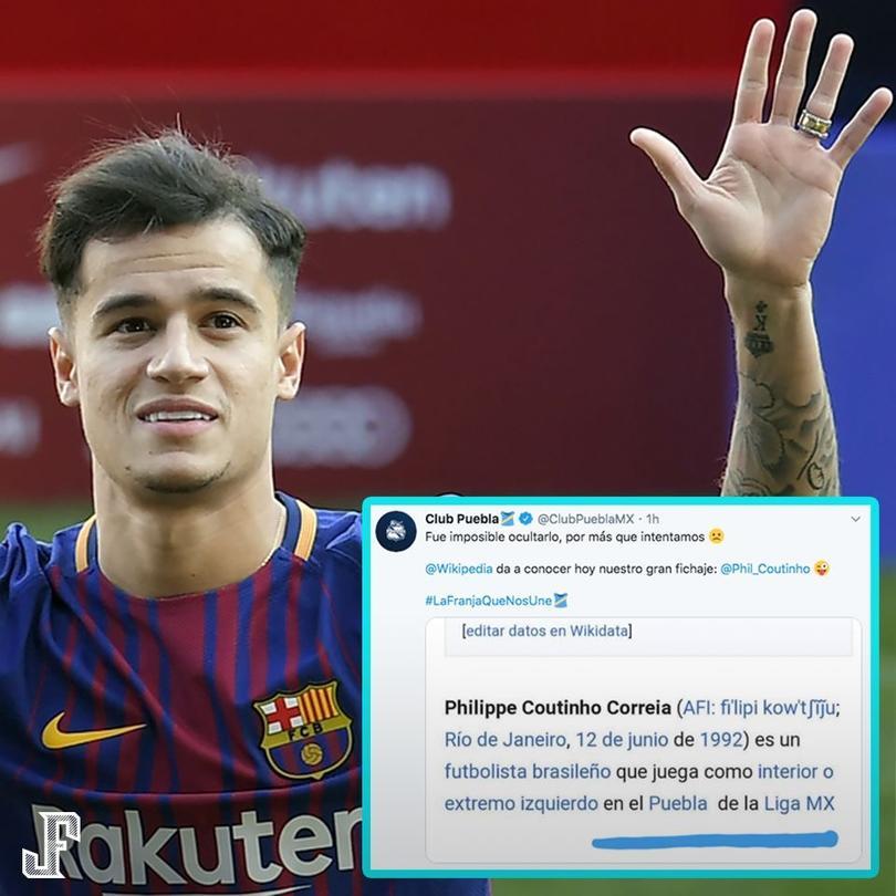 Según Wikipedia, Coutinho es nuevo jugador de la Franja
