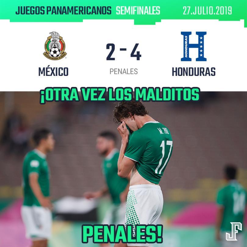 México pierde con Honduras en los Juegos Panamericanos