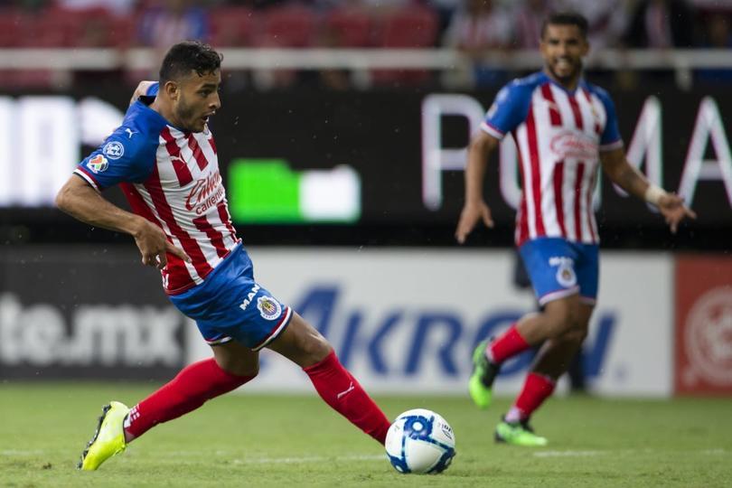 Alexis Vega metió un doblete en la Copa Mx contra Santos