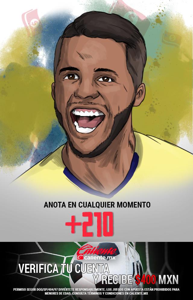 Si crees que Giovani dos Santos anota gol en cualquier momento vs Toluca, apuesta en Caliente y llévate mucho dinero.