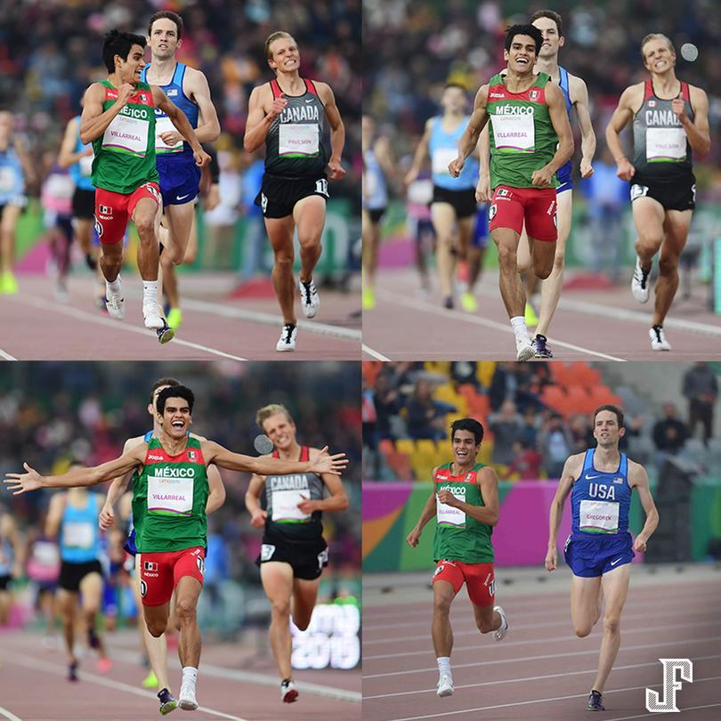 ¡EL MOMENTO DE LIMA 2019!?????  José Villareal tuvo la remontada del año, iba en tercer lugar y en la recta final rebasó a los corredores de USA y Canadá para lograr el la medalla de oro. Su cara lo dice todo. ??