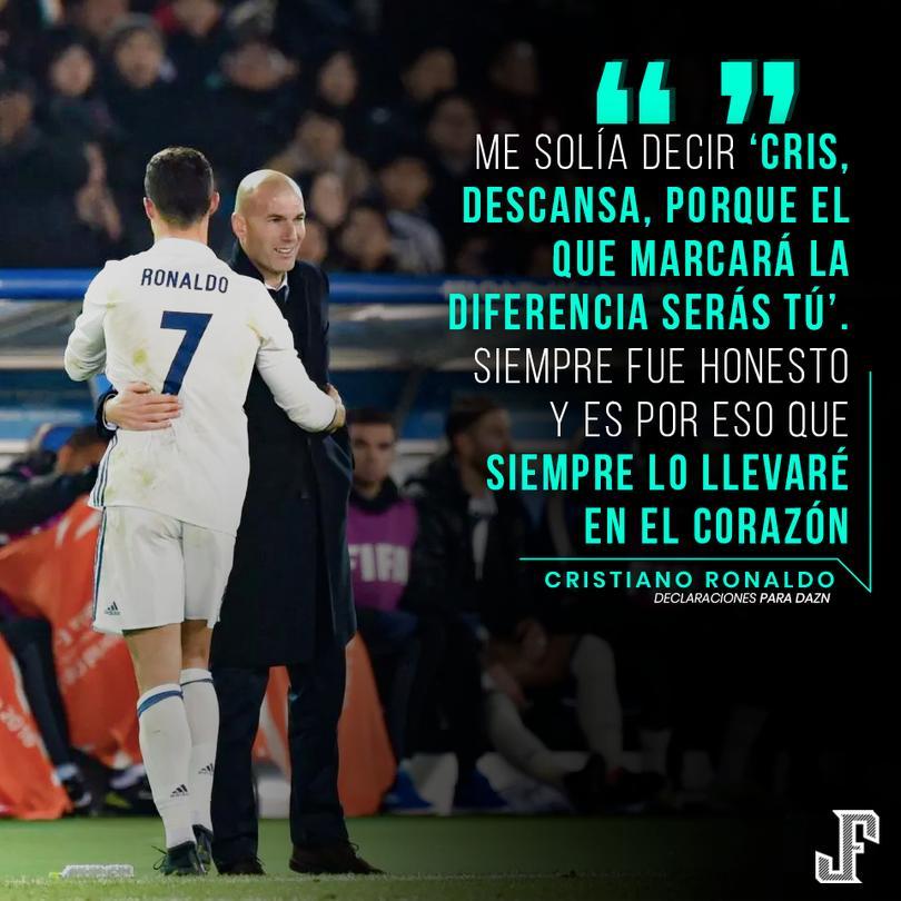 Cristiano reveló lo que le decía Zidane cuando estaba en el Madrid.