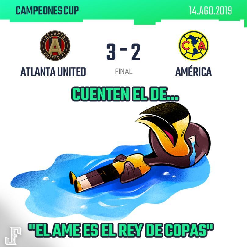 Con goles de Hyndman, Larentowicz y Josef Martínez, el Atlanta de la MLS, venció al América, quien luchó hasta el final con goles de Ibarra y Roger.