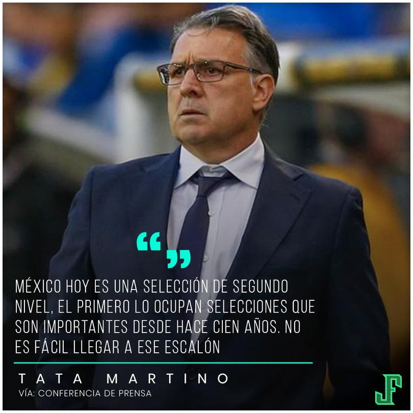 Tata Martino se sinceró sobre lo que se espera de México.