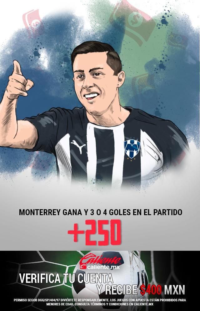 Si crees que Monterrey gana vs Toluca y se anotan 3 o 4 goles en el partido, apuesta en Caliente y no pierdas la oportunidad de llevarte mucho dinero.