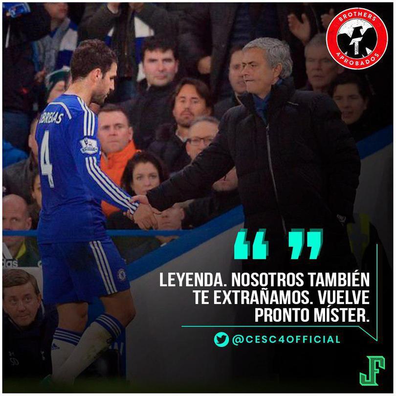Mourinho y Fàbregas