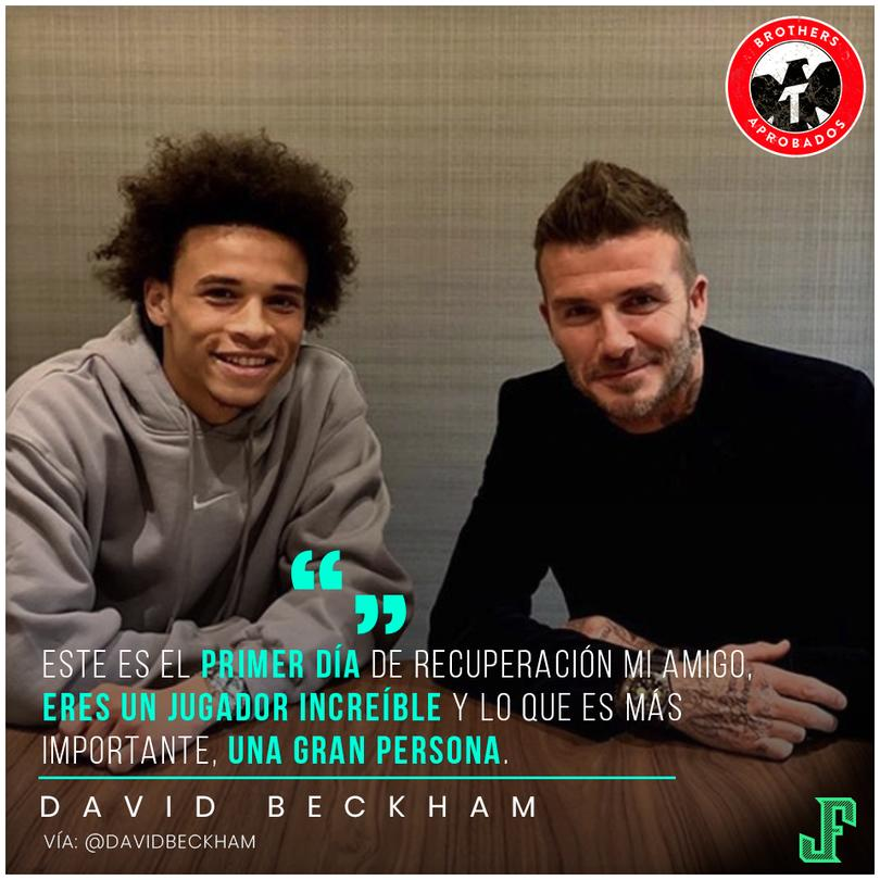 Leroy Sané y David Beckham