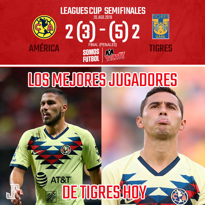 Luego de un juegazo con doblete de Ibargüen, y dos autogoles de América, Tigres espera rival entre Cruz Azul y LA Galaxy para la FINAL de Leagues Cup.