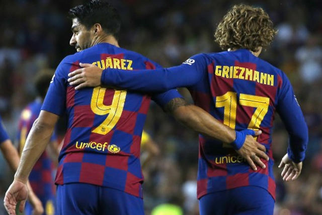 Luis Suárez y Antoine Griezmann